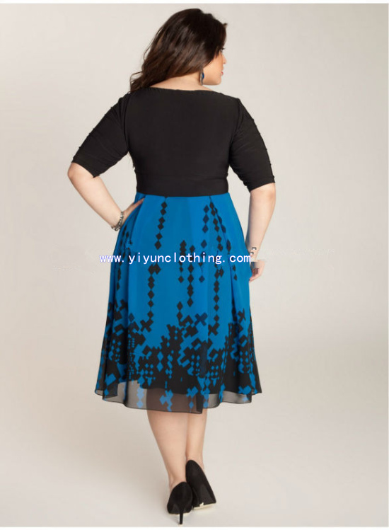 2014 day casual plus size dress for fat women