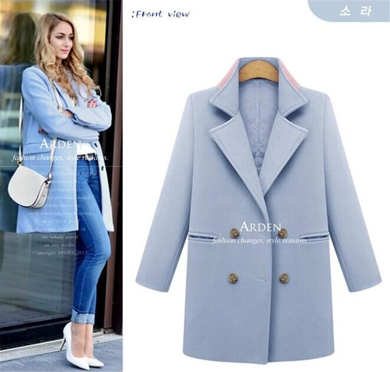 straight woolen coat jacket